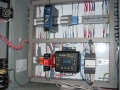 Safety controller, Puls power supply and Banner Engineering safety speed module relay in panel